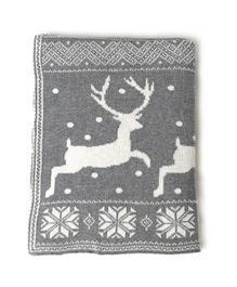 Pluchi Forest Beauty Knitted Blanket -  Light Grey