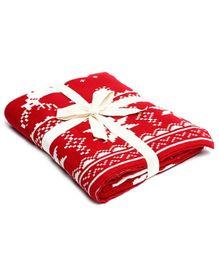 Pluchi Forest Love Throw Blanket - Red