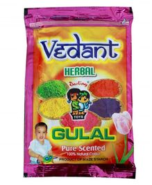 Vedant Herbal Gulal Pouch - 1 Piece