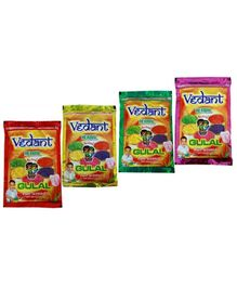 Vedant Herbal Gulal Pouch - Pack Of 4