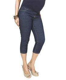 Nine Maternity Slim Fit Capri- Blue Denim