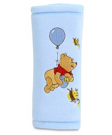 Disney International Winnie the Pooh Seat Belt Pad - Blue