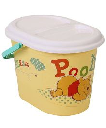 Disney International Winnie the Pooh Nappy Bin With Lid - Yellow And White