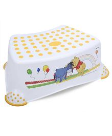 Disney International Winnie the Pooh And Friends Step Stool - White