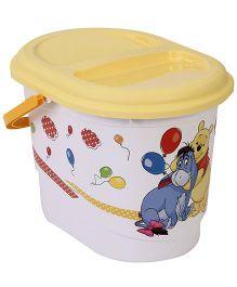 Disney International Winnie The Pooh Nappy Bin With Lid - White
