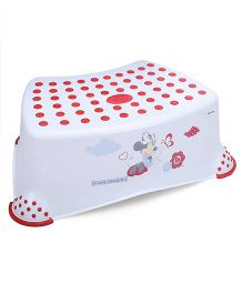 Disney International Minnie Step Stool - White And Red