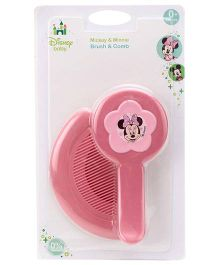 Disney International Brush And Comb Mickey And Minnie Mouse - Pink