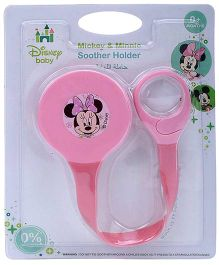 Disney International Mickey And Minnie Soother Holder - Pink