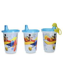 Disney International Mickey Take & Toss 300 ml Sippy Cups Pack Of 3 - Blue