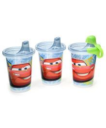 Disney International Cars Take And Toss Spill Proof Cup Blue Set Of 3 - 10 Oz