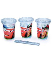 Disney International Cars Take And Toss Straw Cup Set Of 3 - 10 Oz
