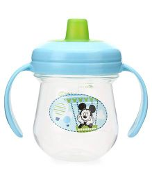 Disney International Mickey Soft Spout Training Cup Blue And Green - 7 Oz
