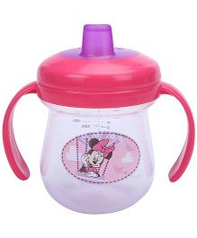 Disney International Minnie Soft Spout Trainer Cup Pink And Purple - 7Oz