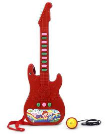 Prasid Mini Guitar With Music - Red And Blue