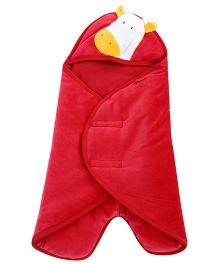 Sapphire Carry Nest Giraffe Patch - Red