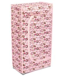 Floral Print Toy Box - Pink