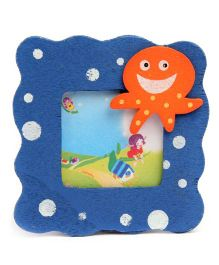 Octopus Design Wooden Photo Frame - Blue