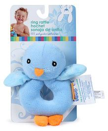 Honey Bunny Ring Rattle Bird - Blue