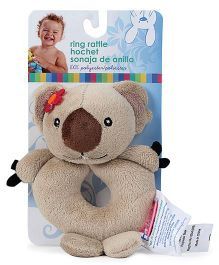 Honey Bunny Ring Rattle Bear - Beige