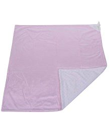Piccolo Bambino Reversible Chamois Blanket With Knotted Edge - Pink