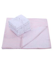 Piccolo Bambino Receiving Blanket Wrapper Pack of 5 - Pink