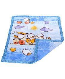 Mee Mee Blanket Cartoon Print - Blue