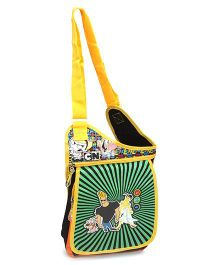 Jhony Bravo Sling Bag Black And Green - 12 Inches