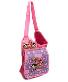 Power Puff Girls Sling Bag Printed Pink And Purple - 12 Inches