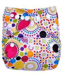 Bumberry Pocket Cloth Diaper With Insert - Multi Color Dots