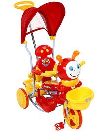 Mee Mee Tricycle With Canopy And Push Handle - Red
