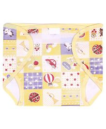 Babyhug Waterproof Nappy With Velcro Closure Small Single Piece - Assorted Colors
