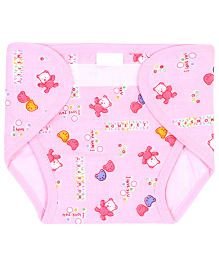 Babyhug Waterproof Nappy Mini Teddy Print Single Piece - Assorted Colors