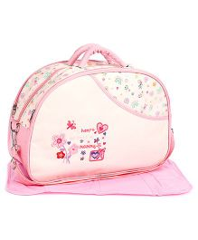 Mother Bag Floral Embroidery - Pink