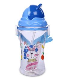 Sipper Water Bottle Rabbit Design 400 ml - Blue