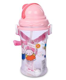 Sipper Water Bottle Rabbit Design 400 ml - Pink