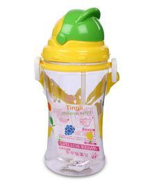 Sipper Water Bottle Rabbit Print Yellow - 400 ml