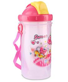 Water Bottle Sweet Print 500 ml - Pink And Yellow