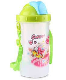 Water Bottle Sweet Print 500 ml - Green And Blue