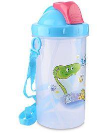 Water Bottle Fish Print Pink And Blue - 300 ml
