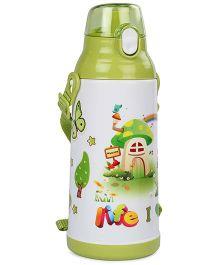 Life Print Push Button Water Bottle Green - 750 ml