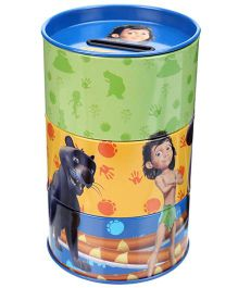 Jungle Book Tin Coin Bank - Green And Blue