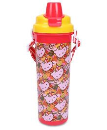 Hello Kitty Sipper Bottle Red And Yellow - 600 ml