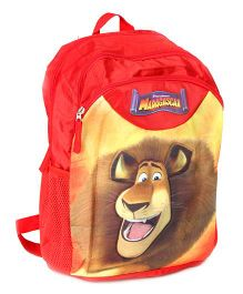 Madagascar School Bag 15 Inches - Red