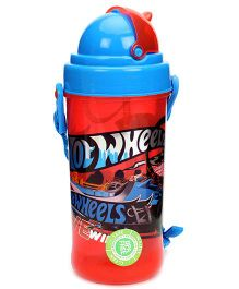Hotwheels Sipper Water Bottle Red And Blue Small - 400 ml