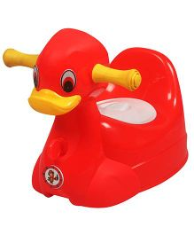 Sunbaby Squeaky Duck Musical Potty Trainer Red - SB-PT-10