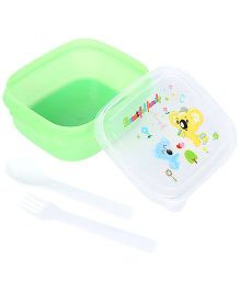 Lunch Box With Beautiful Family Print - Green