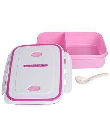 Airtight Microwave Lunch Box - Pink And White