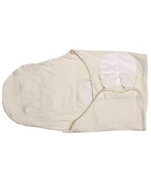 1st Step Baby Swaddle Wrap Cat Patch - Off White