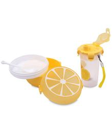 Lunch Box Water Bottle And Spoon Set Fruit Print - Tellow