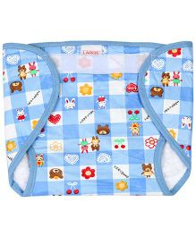 Babyhug Waterproof Nappy With Velcro Closure Large Single Piece - Assorted Colors